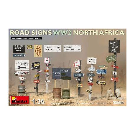 Signalisation routière Afrique du Nord WWII