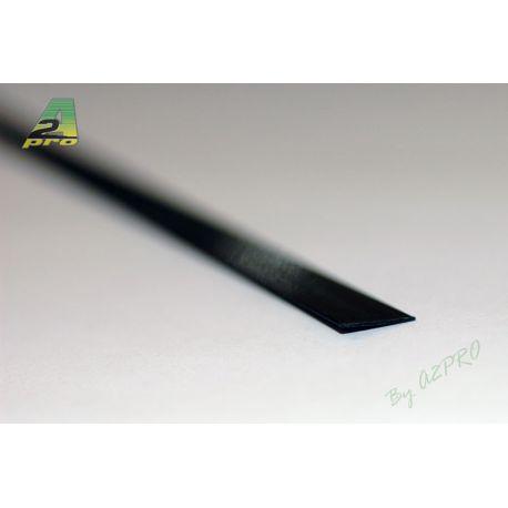 Profile fibre carbone plat 1,0 x 4,5 mm.x 1 m