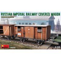 Wagon couvert des chemins de fer Impériaux Russes