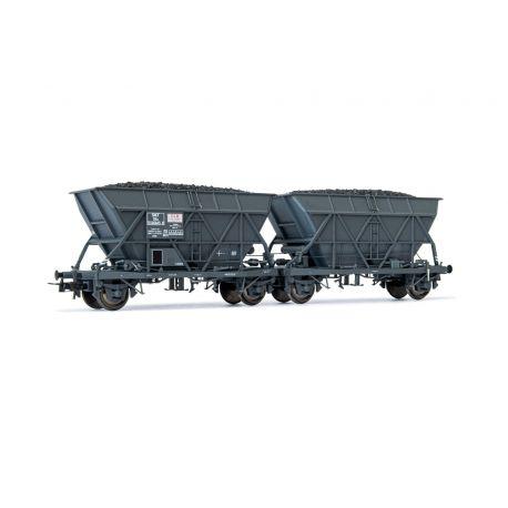 """Couplage de wagons trémie EF30 """"SGW"""" SNCF"""