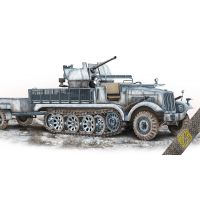 Semi-chenillé allemand 5t Sd.Kfz.6/2 avec Flak 36 37mm