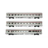 "3 voitures voyageurs ""TEE 'Arbelete"""