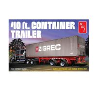 Semi-remorque avec container 40 pieds