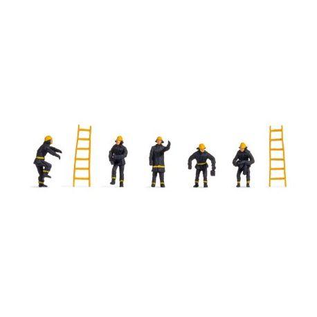 5 pompiers et 2 échelles