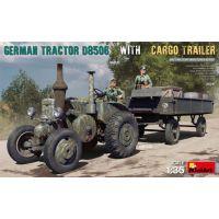 Tracteur allemand D8506 avec remorque