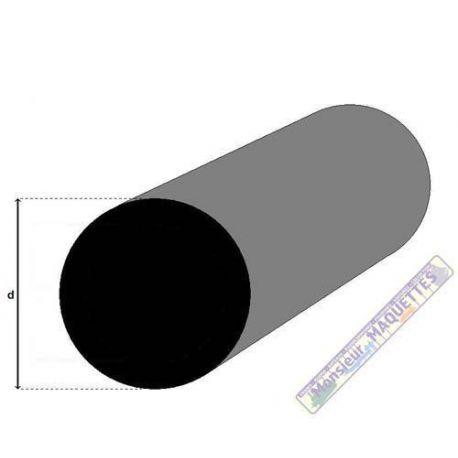 PROFILE FIBRE DE CARBONE ROND 0.5MM X 1M