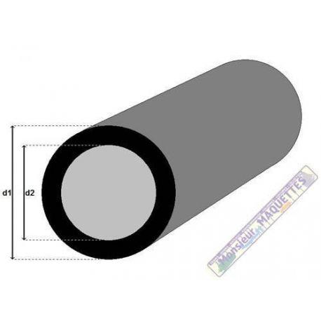 PROFILE FIBRE DE CARBONE TUBE ROND 1.7/2.5MM X 1M