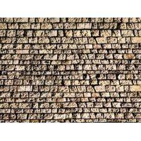 Feuille mur de pierres