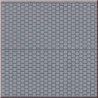 Plaque route pavés carrés gris