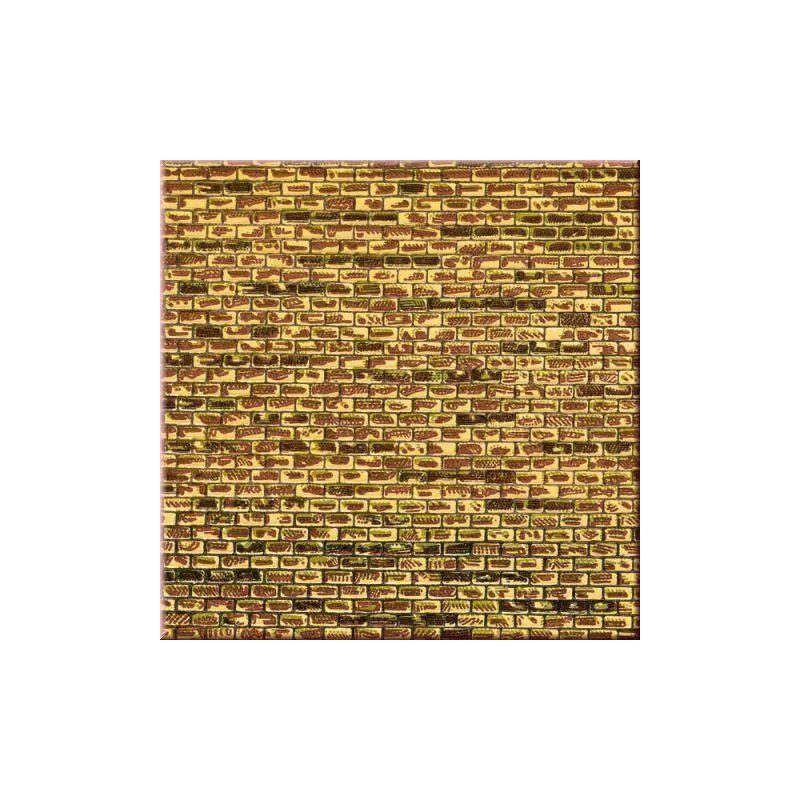 plaque de mur en briques jaunes tachetees ah50501 auhagen. Black Bedroom Furniture Sets. Home Design Ideas